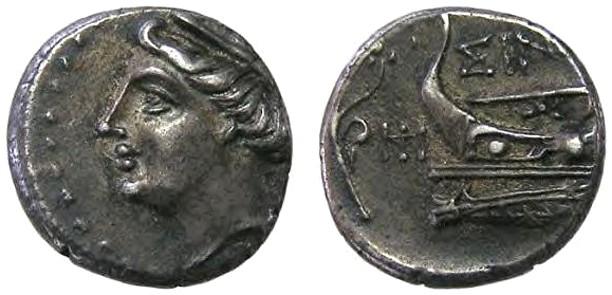 Greek (450 Bc-100 Ad) Sinope Paphlagonia Ae21 Facing Gorgon At Center Greek Coins: Ancient