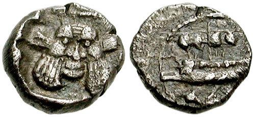 1/32 de shekel de Sidón , Fenicia 97-736271